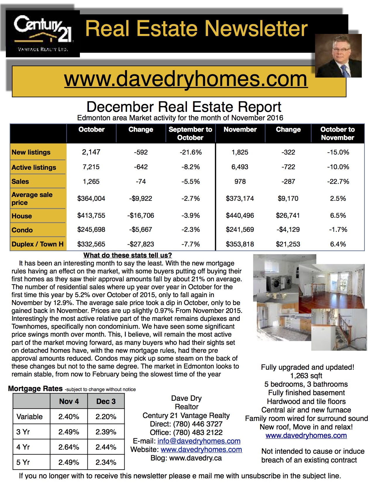 Real Estate Newsletter December 2016