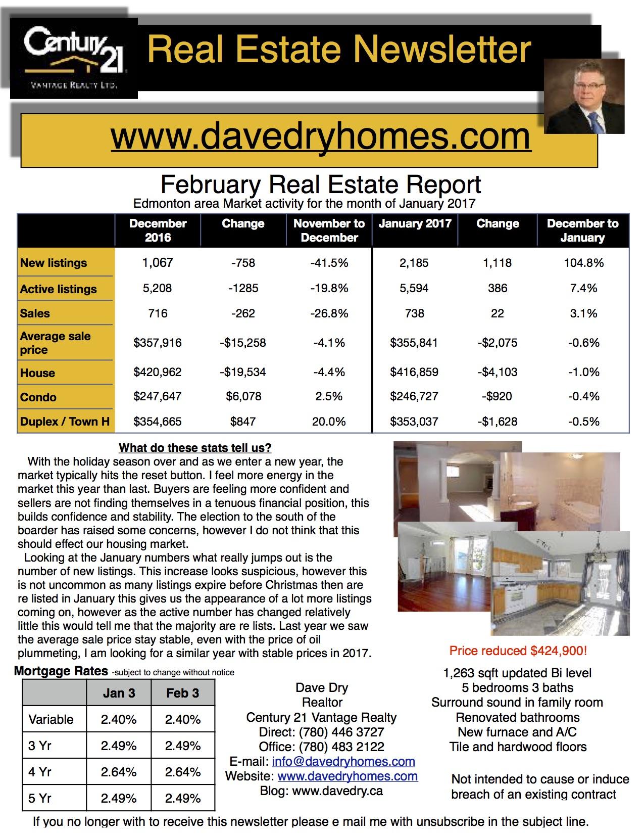 February 2017 Real Estate Newsletter